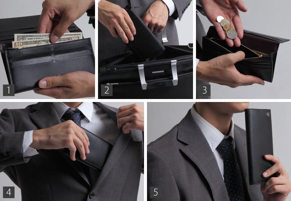 財布のモデル撮影