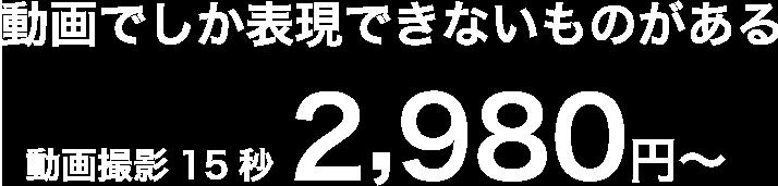格安動画撮影 15秒2,980円